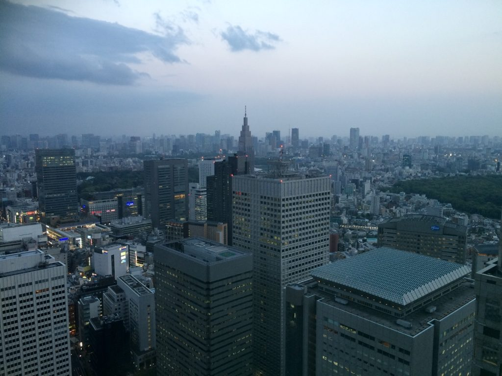 You can see Tokyo Tower from this side. This view only had smaller window to take pictures.