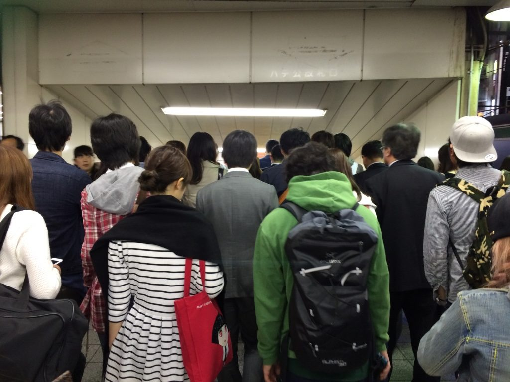 Shibuya Station. Rush hour or all the time?