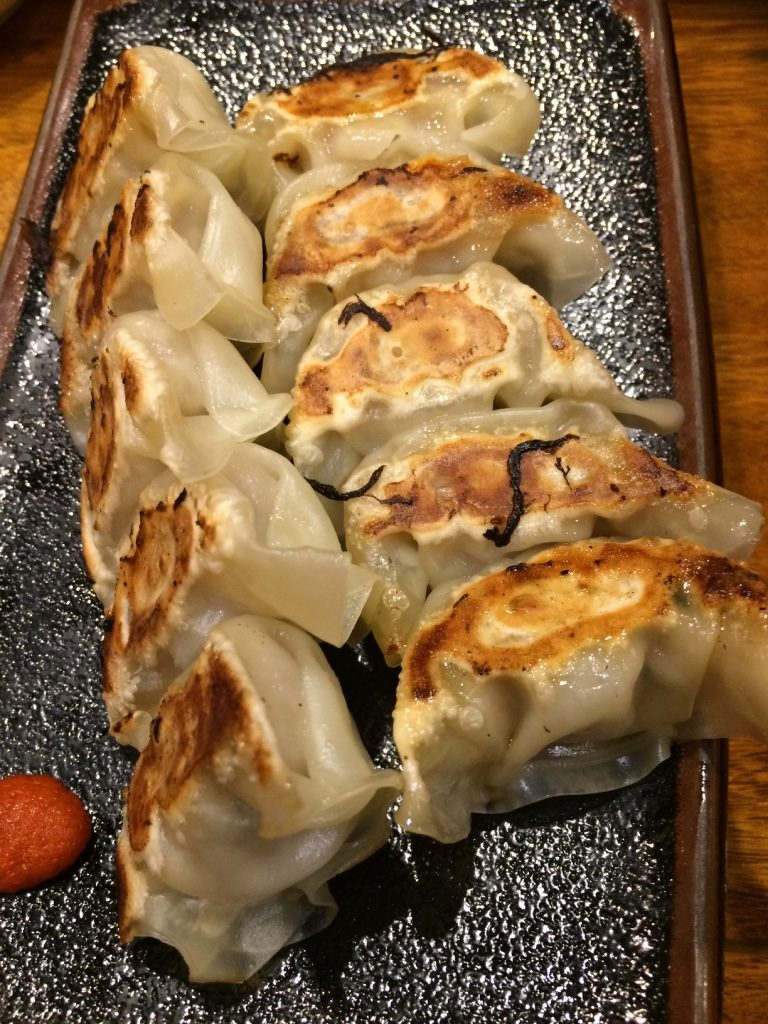 Gyozas were awesome. They were bite sized. 10 pieces for 440 JPY = $5.10 CAD
