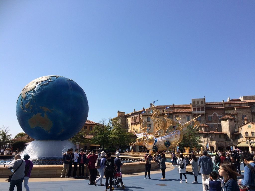 What you see when you first walk into Disney Sea