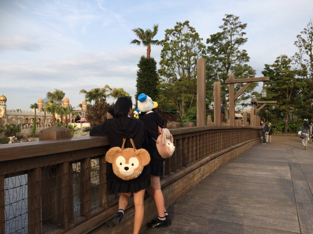 You see this bear, named Duffy, everywhere! If you don't have something Duffy while at Disney Sea, you're probably not Japanese.