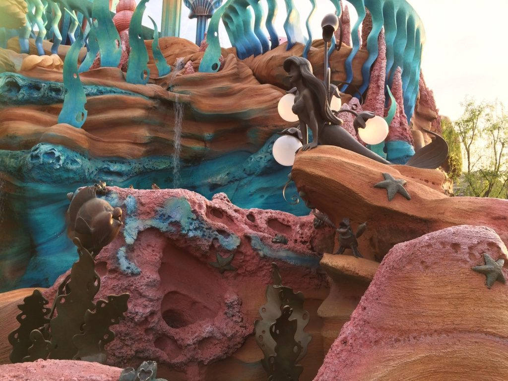 Ariel and Flounder in Mermaid Lagoon