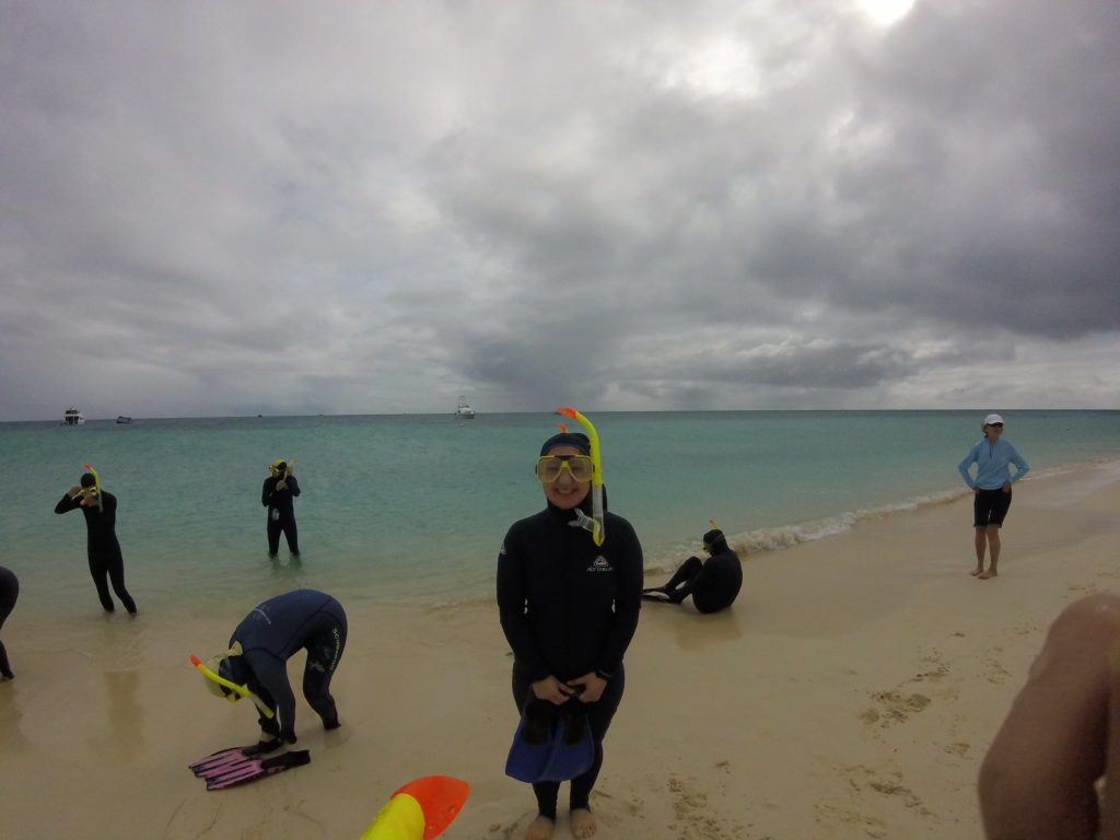 Waiting to get into the water at Michaelmas Cay