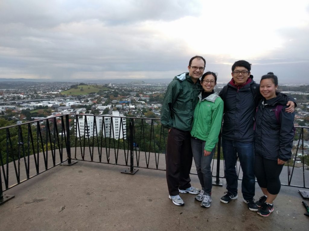 The four of us at Mt Eden