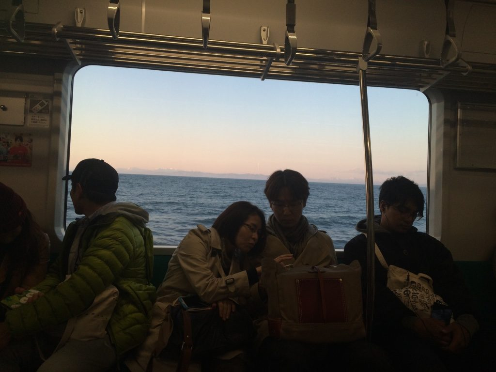 View of the ocean on the way back to Sapporo