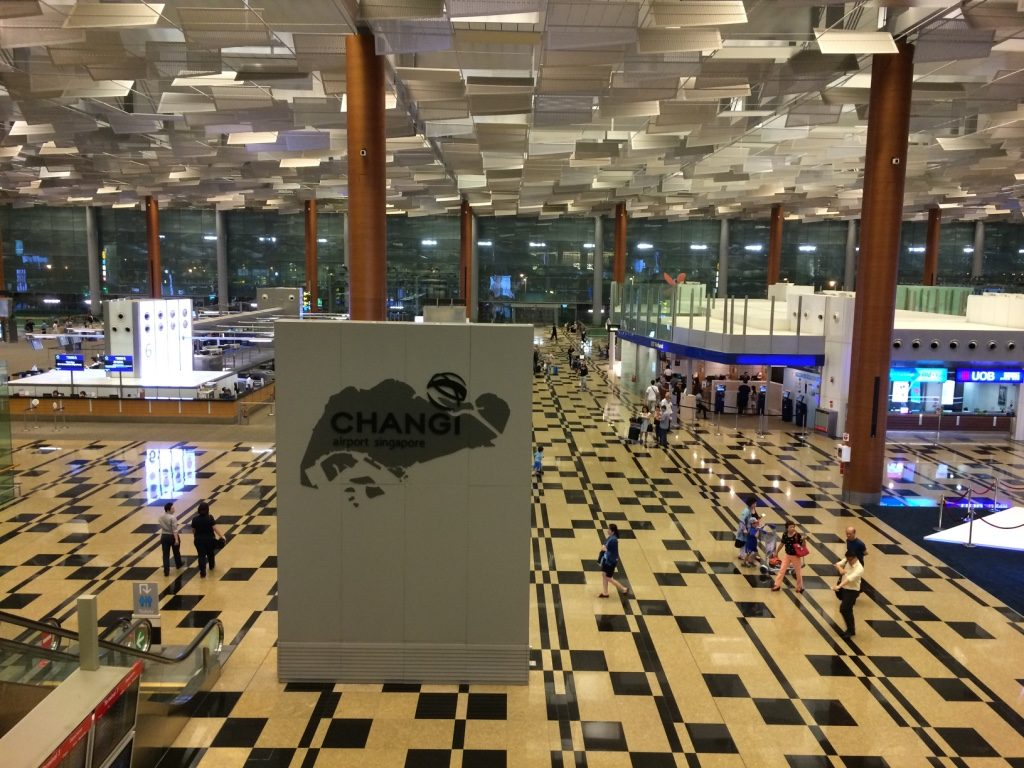 Terminal 3 departure check in floor at Changi