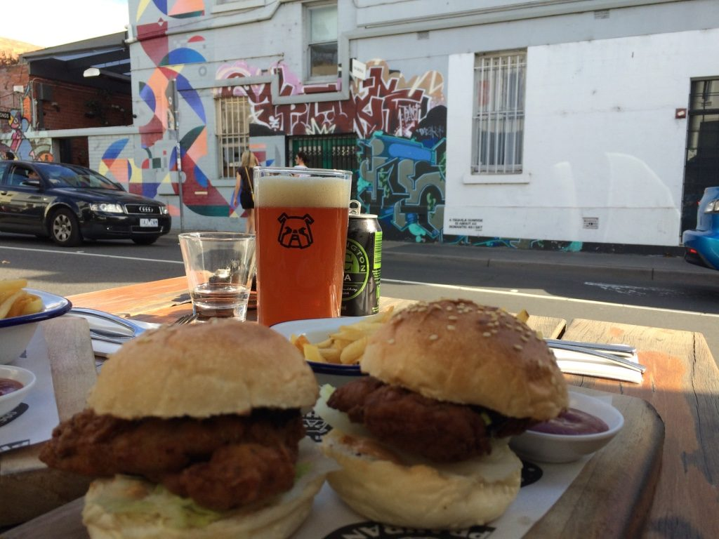 Southern fried chicken sliders ($18.50 AUD = $17.60 CAD)