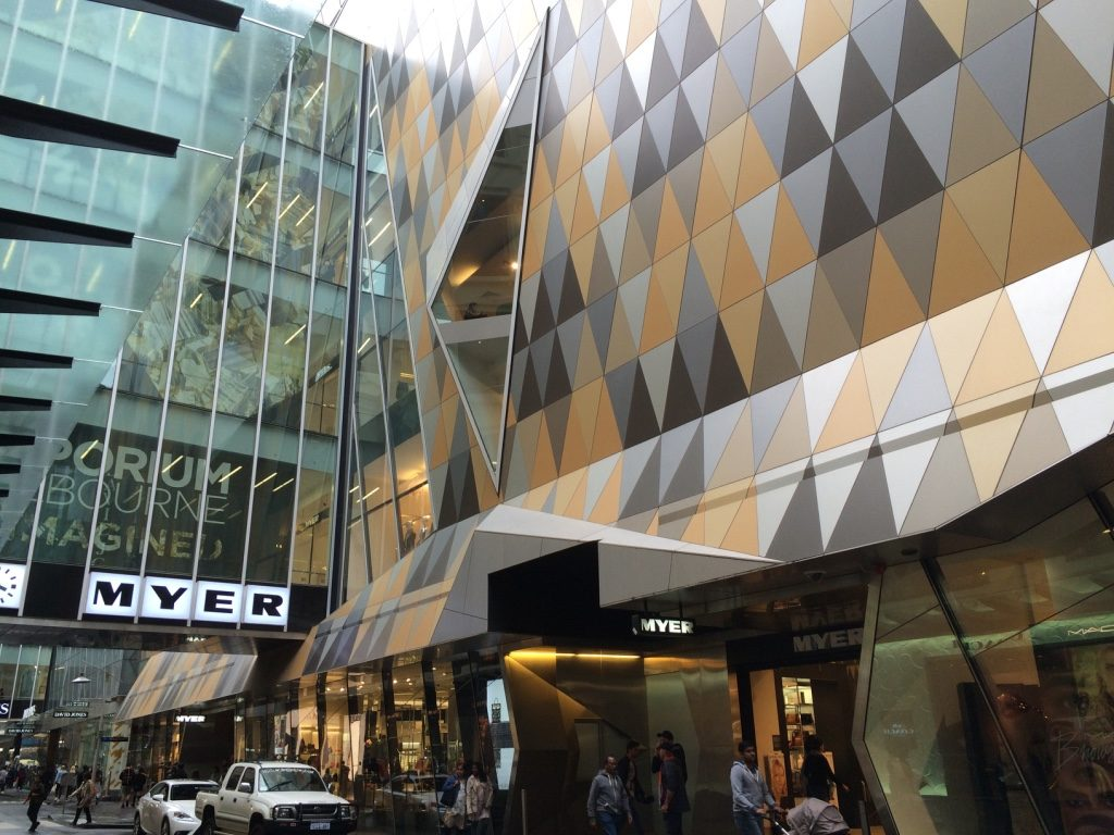 Myer, a department store in Melbourne