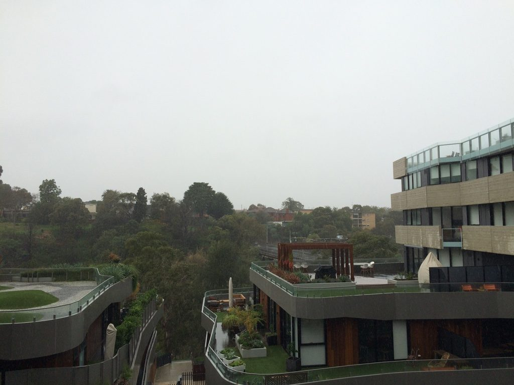 A pretty gloomy morning in Melbourne
