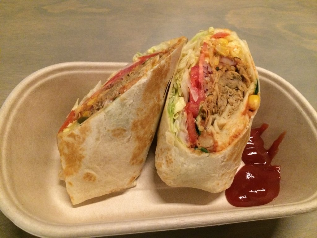 Citrus pulled pork burrito ($12 AUD to $11.40 CAD)