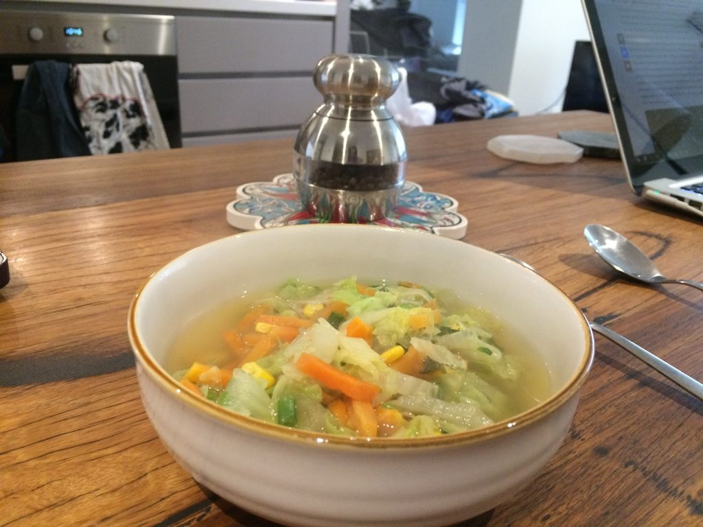 Tim made me some vegetable soup