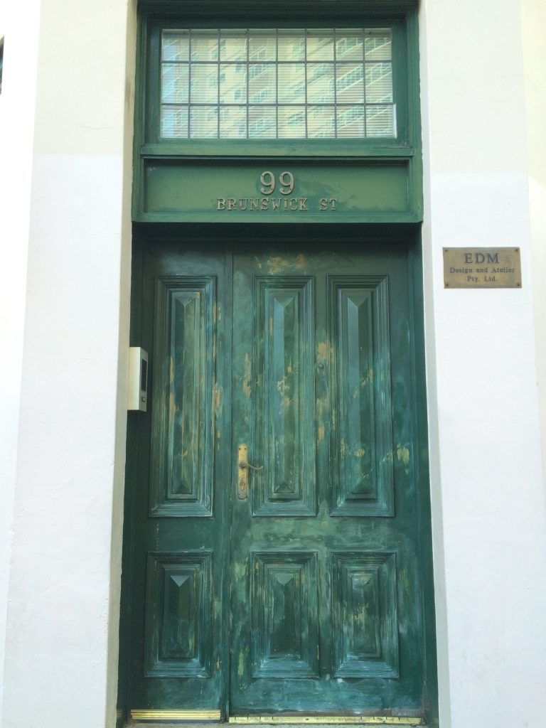 Cool looking door while walking on Brunswick.