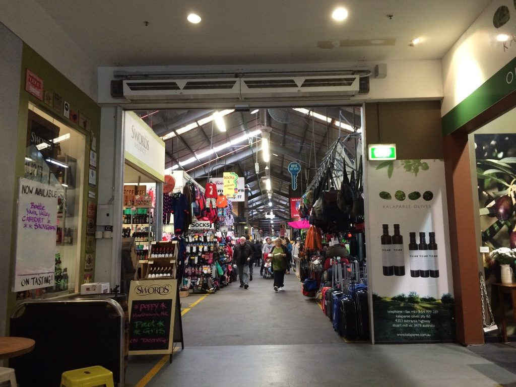 Inside South Melbourne Market