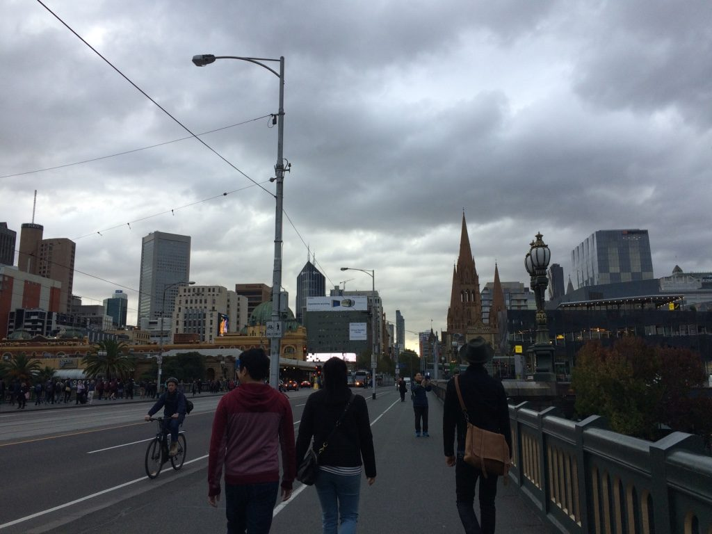 Walking back to the CBD