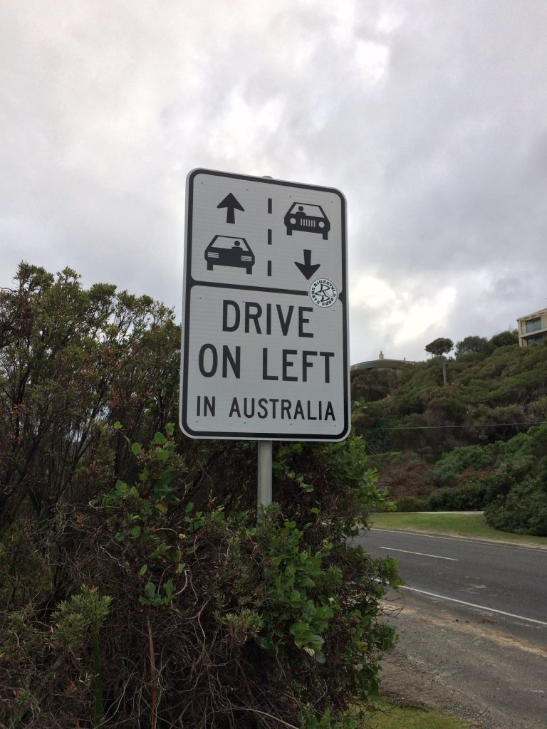 The Great Ocean Road is popular amongst tourists so they had these signs everywhere there was a view point