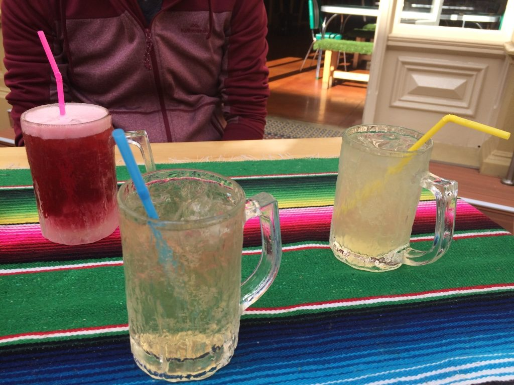 Our sodas: blackberry, organic vanilla cream soda, and a lemon elderflower ($5 AUD = $4.70 CAD).