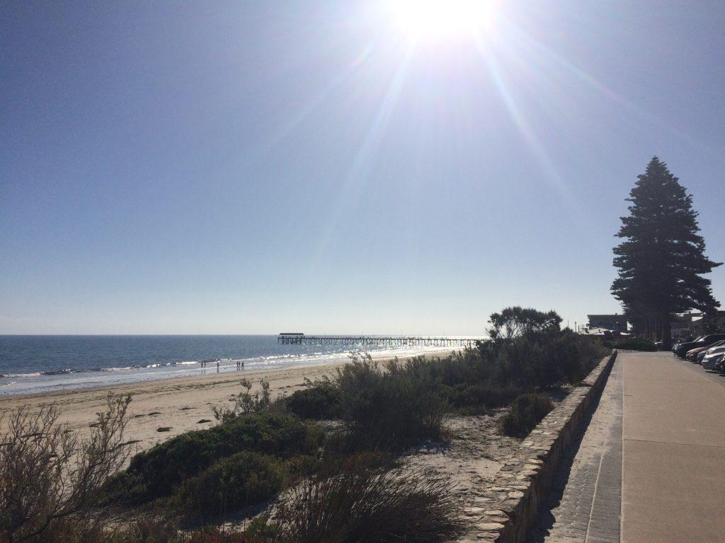 Beautiful sunny day at Henley Beach