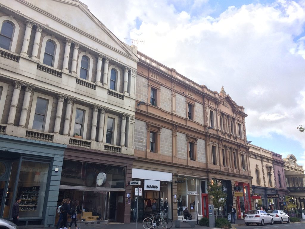 My favourite part of Rundle St. (for the buildings and nice shops)