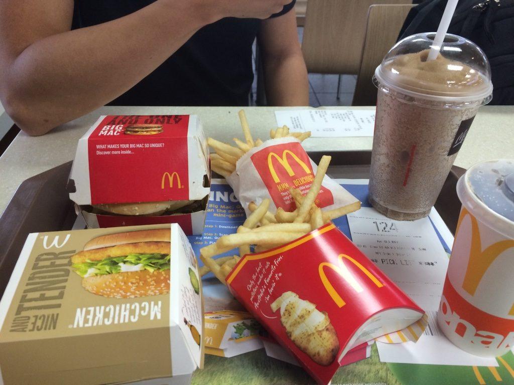 McDonald's road trip meal. $20 AUD = $18.93 CAD. McDonald's isn't cheap in Australia