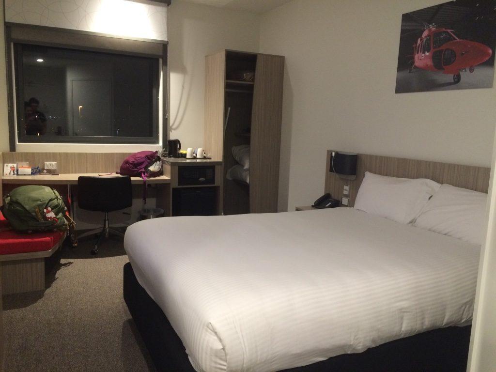 Pretty comfortable bed ($90 CAD per night)