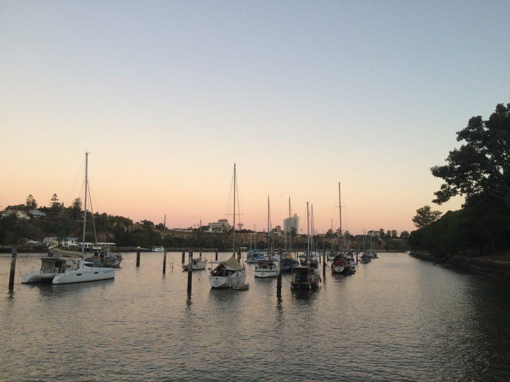 Lots of boat docked around Brisbane