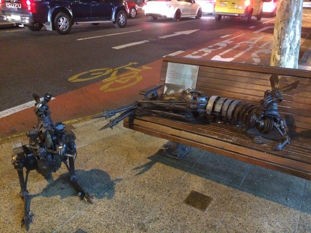 Interesting street art. Kangaroos everywhere!