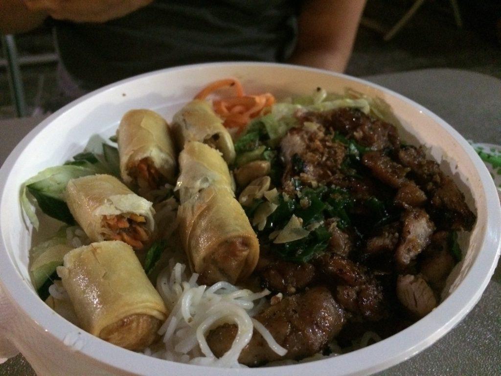 Tim's Vietnamese bowl ($9 AUD = $8.45 CAD)