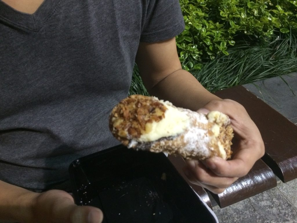 We shared a canoli for dessert ($5 AUD = $4.70 CAD)