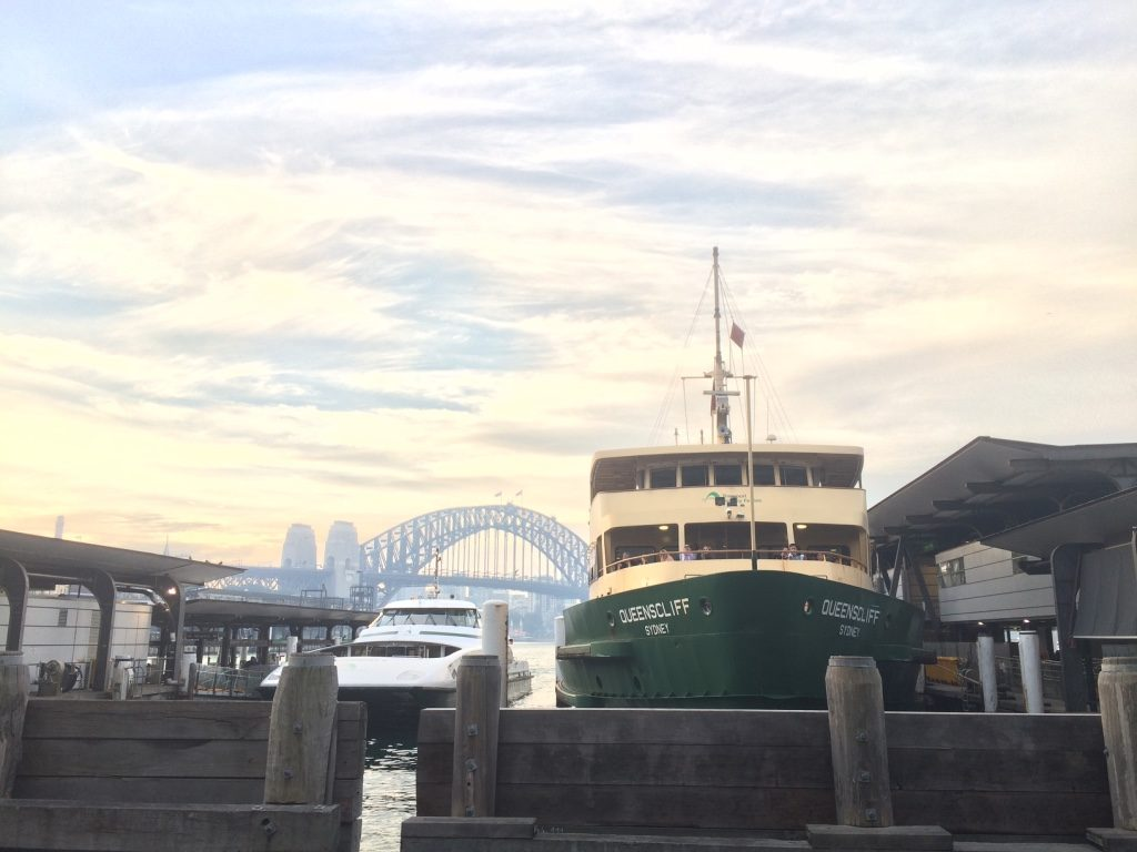 Ferries at the Circular Quay