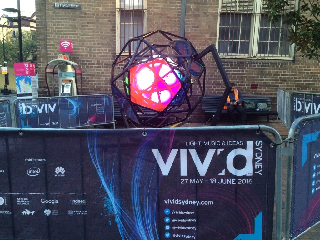 There were different light exhibits being set up all around the CBD and Circular Quay for Vivid