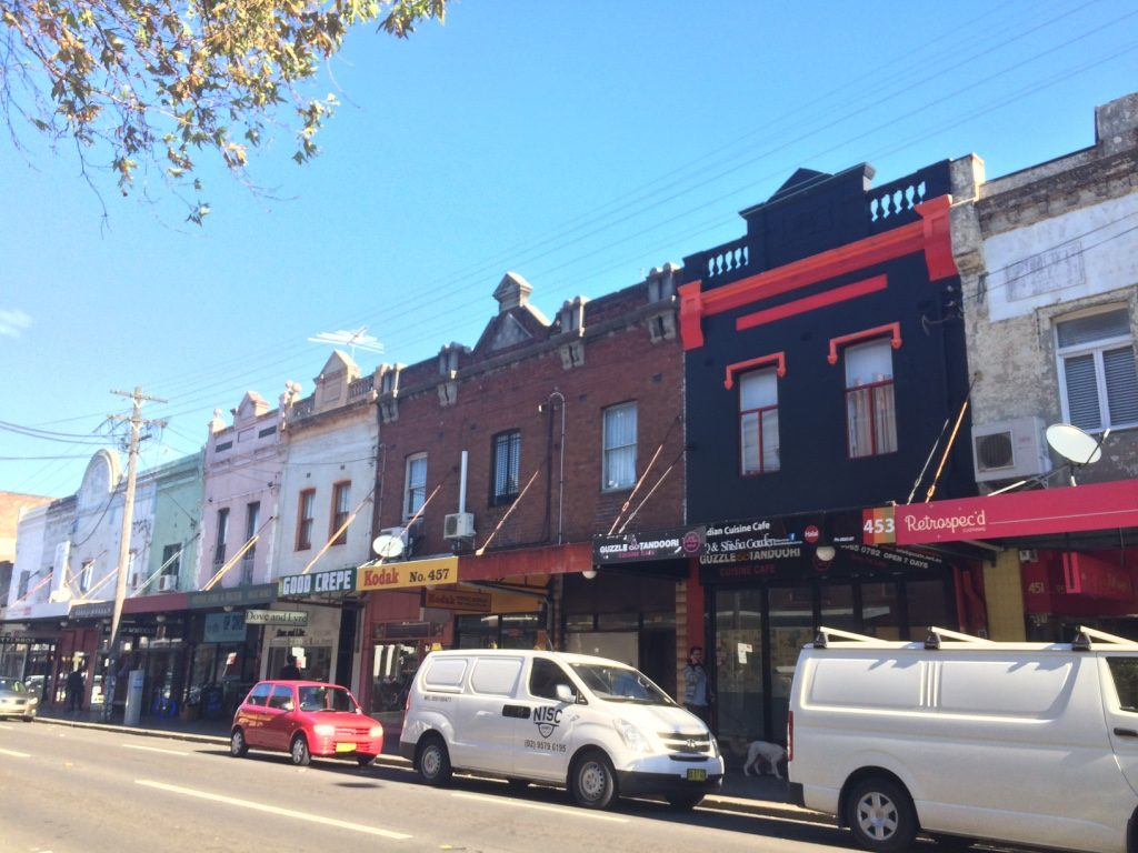 Colourful buildings in Newtown