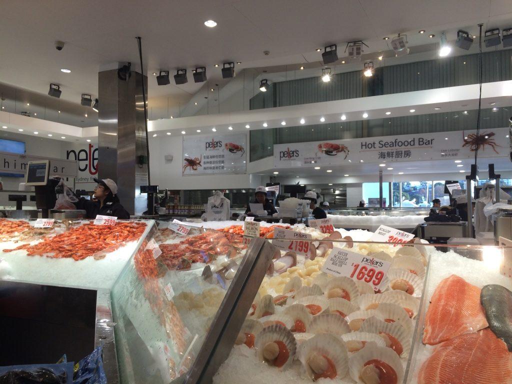 Peter's seafood inside Sydney Fish Market.