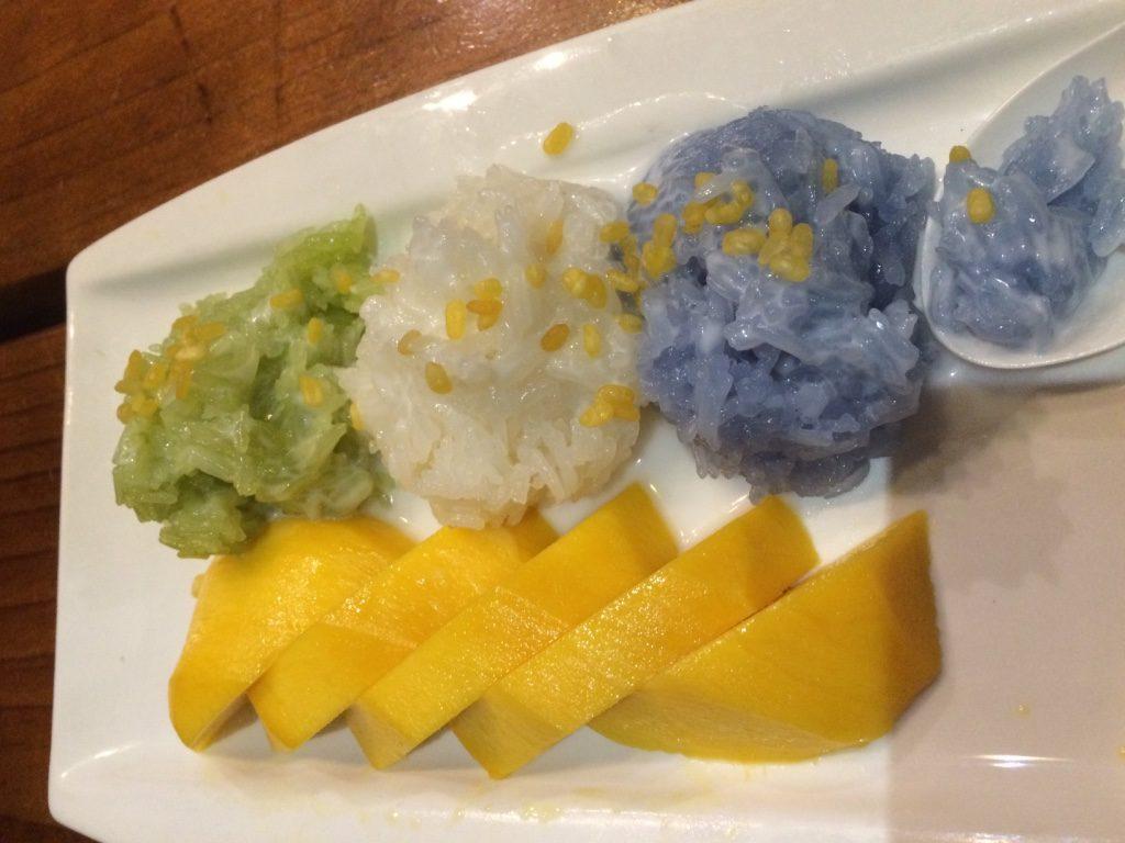Mango sticky rice. My favourite Thai dessert!