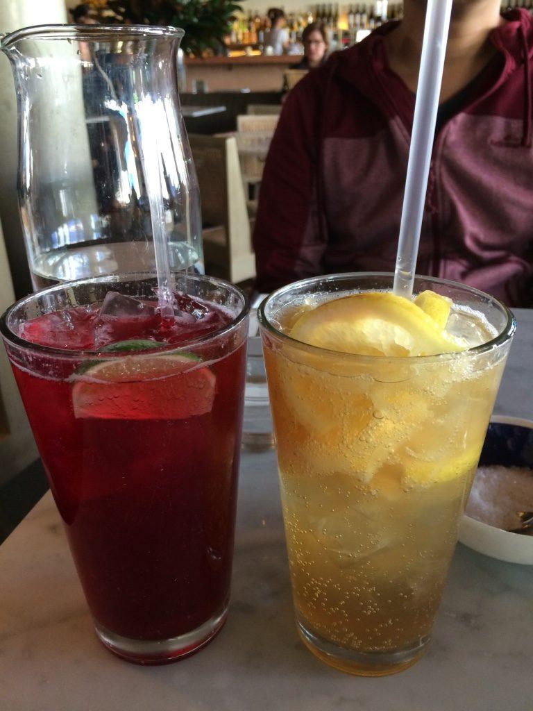Hibiscus lime soda & lemonade ($9 AUD each)
