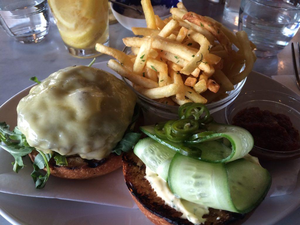 Wagyu beef burger ($26 AUD)