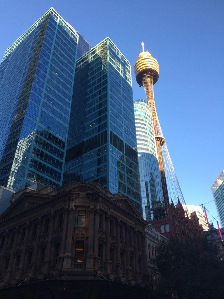 Sydney's CBD, on Pitt St. by outside the Westfield (mall)