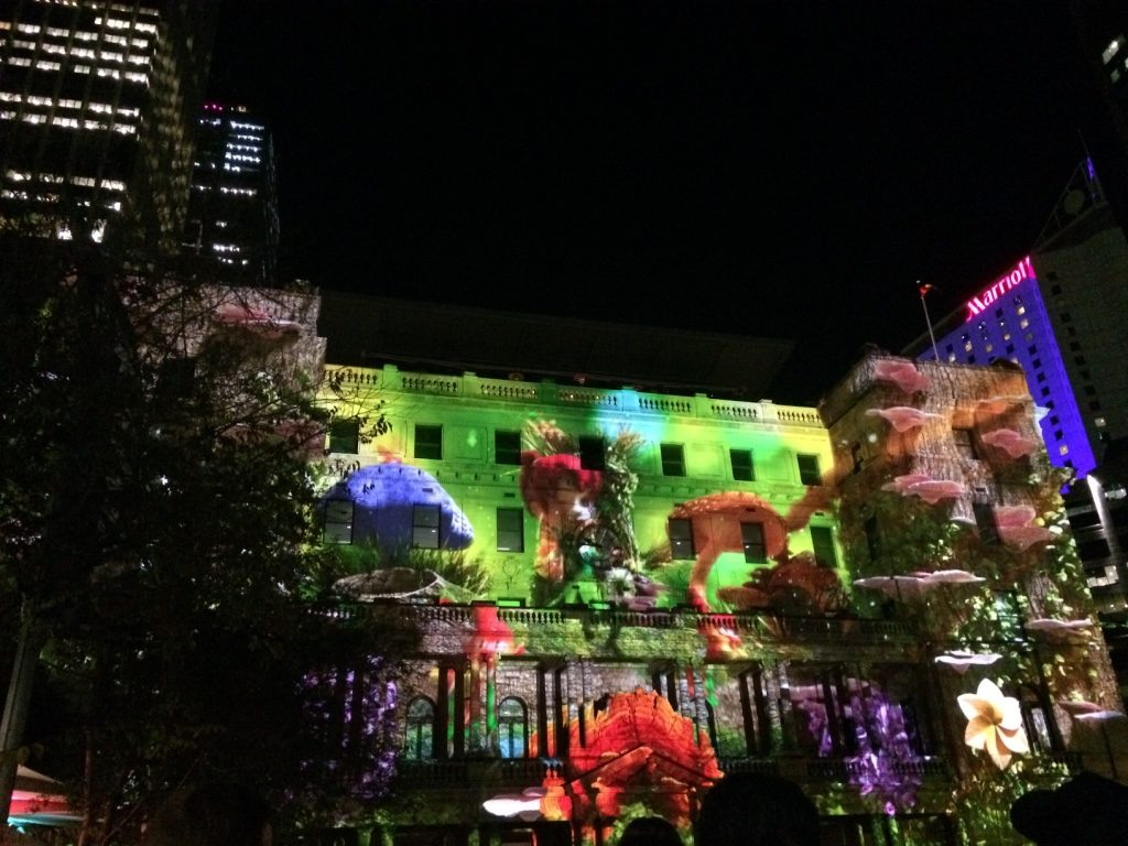 Customs House had a projection show. This was one of the scenes.