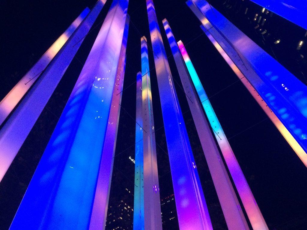Cool lights around the Circular Quay