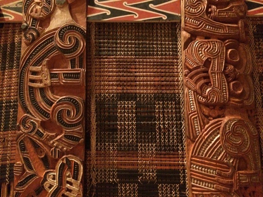 Traditional Maori house walls