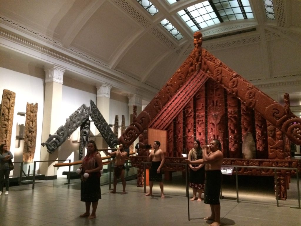 Maori show starting for those who paid extra for it