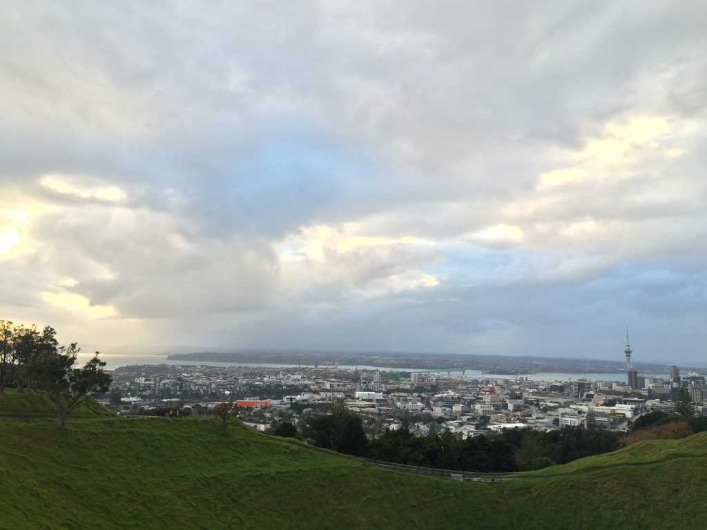 Crater and the view of Auckland