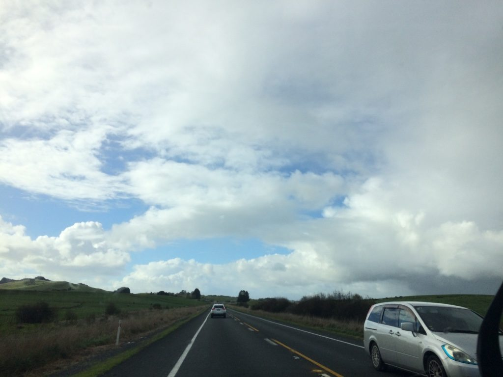 Motorway out of Auckland