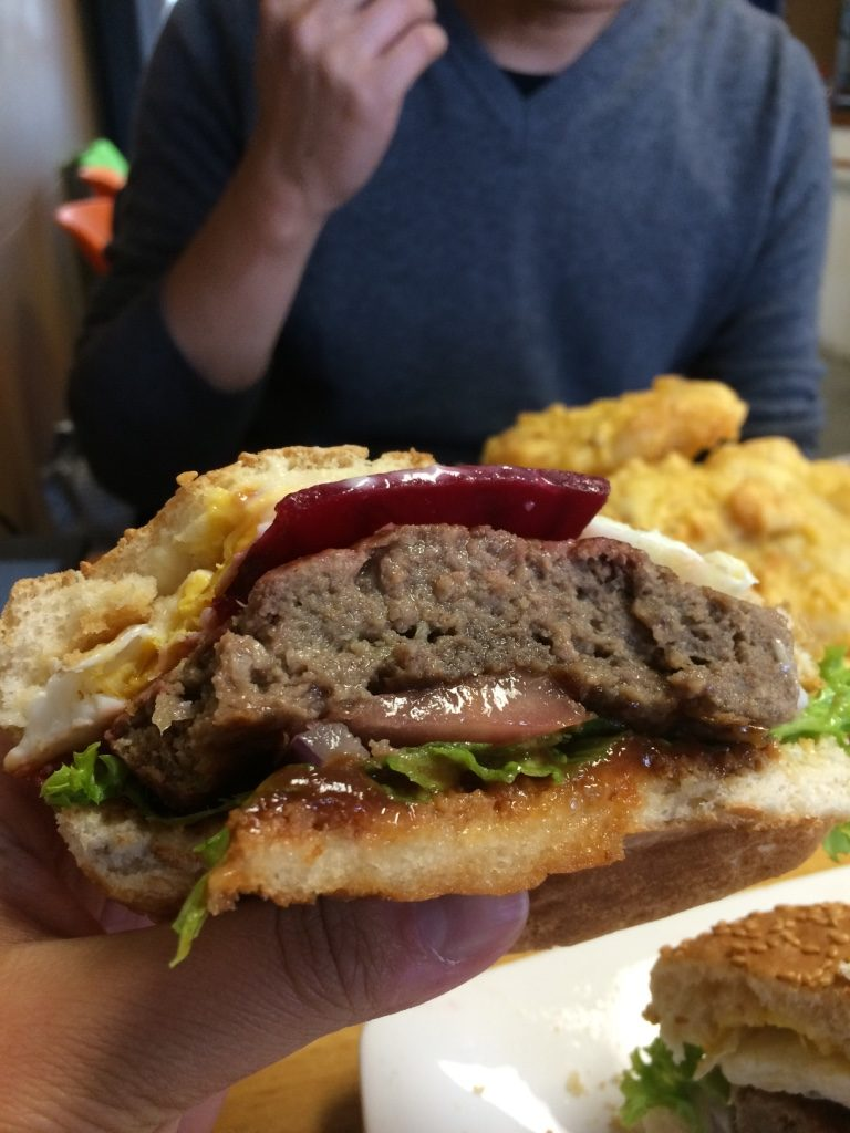 New Zealand burgers have a fried egg and sliced beet in them. It was juicy and tasty!