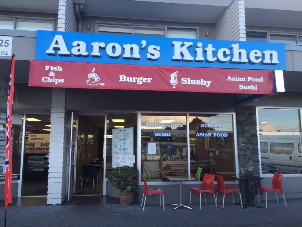 Aaron's Kitchen in Taipua