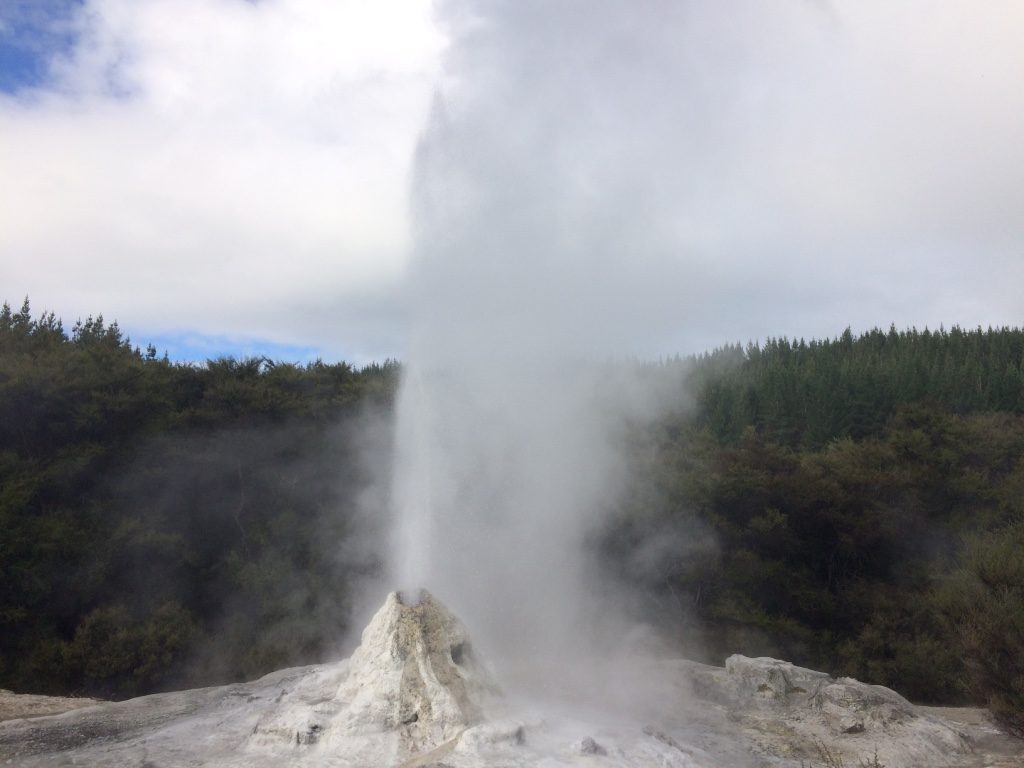 Close up of the geyser as the weather began to change
