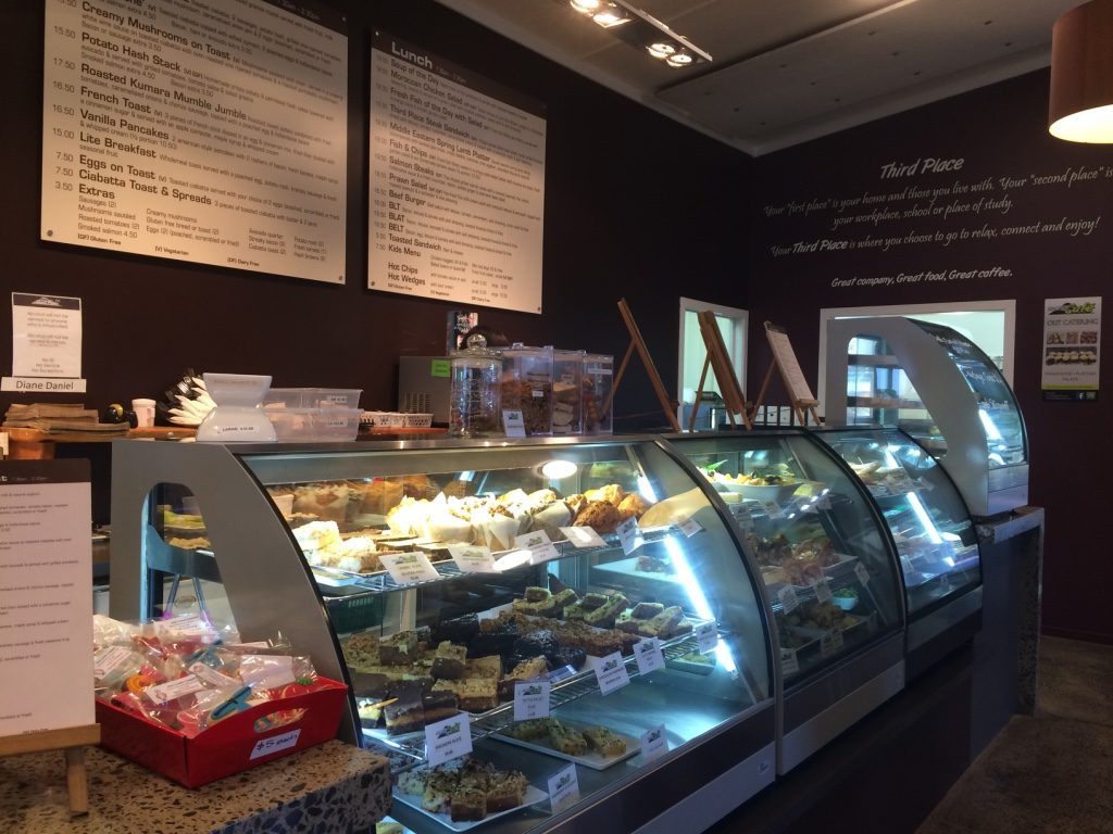 Third Place Cafe counter, Rotorua