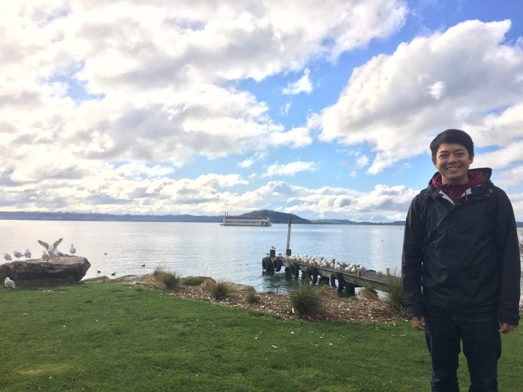 Sulphur Point - there is a strong sulphur (rotten egg) smell in Rotorua