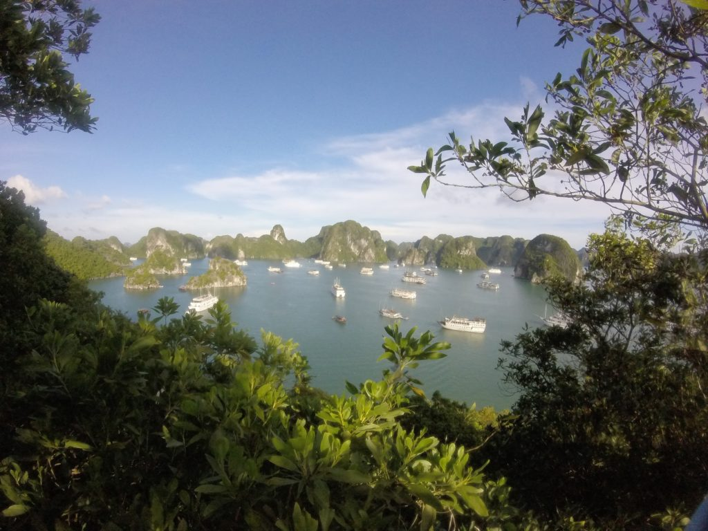The view of Halong Bay after walking up 400 steps