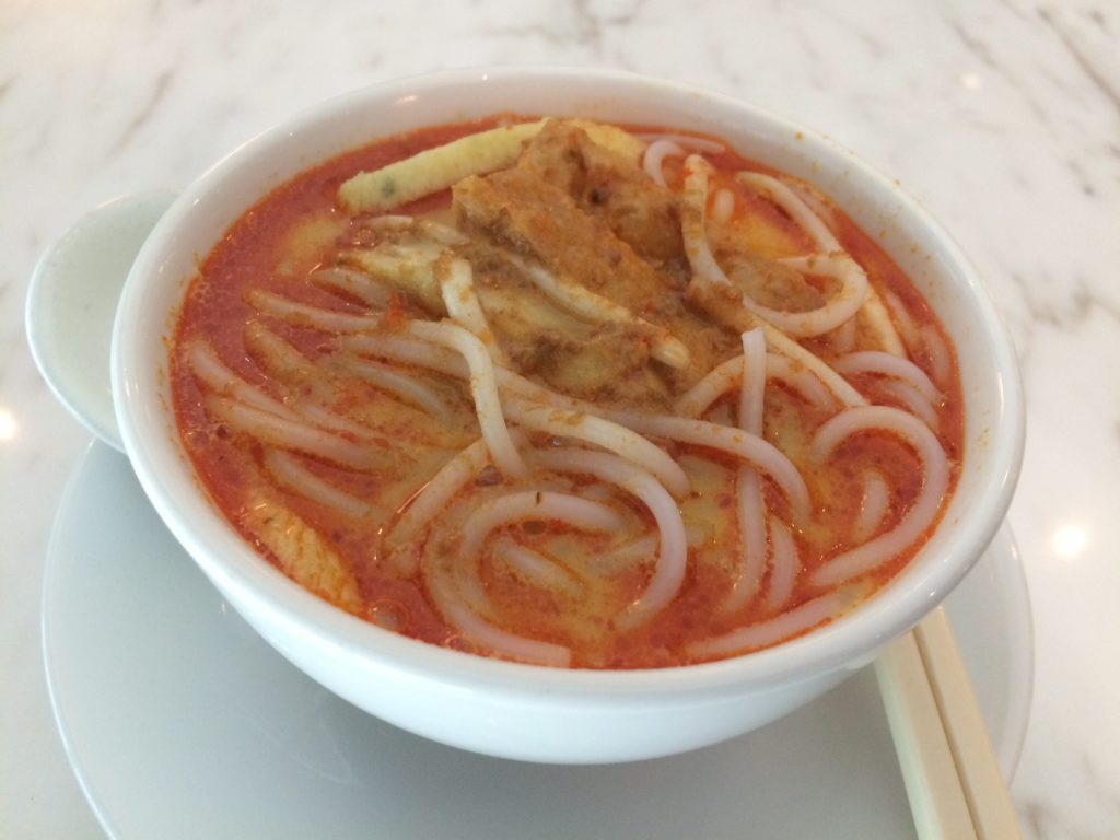 Laksa from the lounge