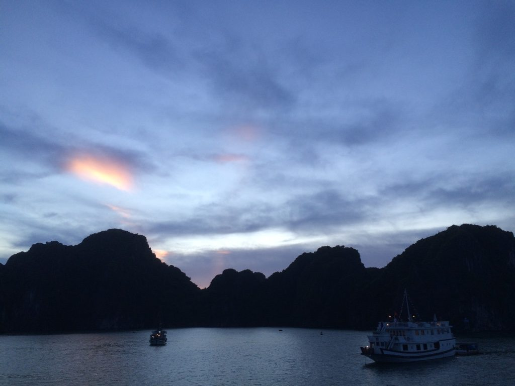 Our last beautiful night in Halong Bay